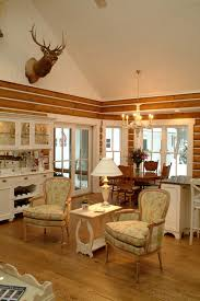 rustic log cabin decor living room shabby chic style with