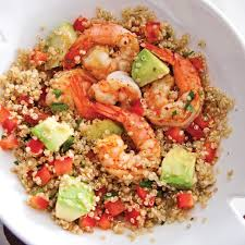 cuisiner quinoa salade de quinoa aux crevettes et avocat recettes cuisine et