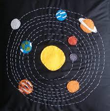 colcha con decoración del sistema solar craft pinterest