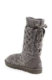 womens ugg cambridge boot grey the bow detail on the back of these adorable knit