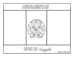 Iraq Flag Coloring Page Afghanistan Kids Coloring Pages