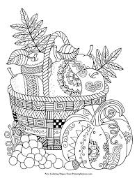 free printable thanksgiving coloring pages adults u2013 festival