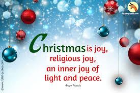 christmas is joy religious joy an inner joy of light and peace
