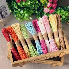colored raffia usd 4 32 colored raffia rope baking package diy handmade braided