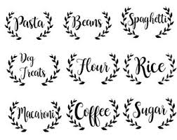 labels for kitchen canisters canister labels etsy