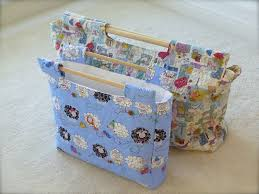 sew retro sewing knitting wip bag pdf pattern sewchet