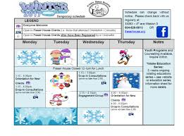 seasonal program schedule fraser house society