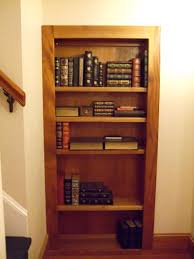 exterior mesmerizing hidden passage behind bookshelf with dark