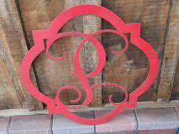 monogram door hanger door wreath housewarming gift wedding