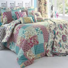 floral u0026 patchwork duvet set dreams u0026 drapes