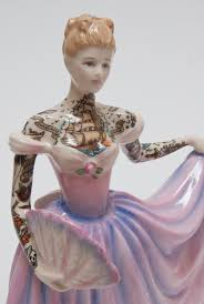 Home Interior Porcelain Figurines by Tattooed Porcelain Figures By Jessica Harrison Colossal