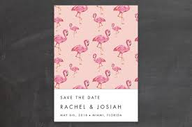 Funny Save The Date Flamingo Wedding Save The Date Cards By Makewells Minted