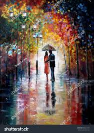 original oil painting on canvas lovers stock illustration