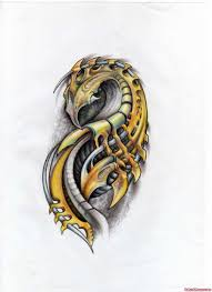 impressive color biomechanical tattoo design tattoo viewer com