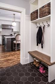 coat rack bench laundry room traditional with built in seat round