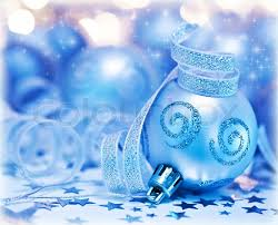 Christmas Tree Decorations Light Blue by Christmas Tree Ornament Bauble Decoration Over Bokeh Abstract