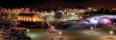 christmas light park near me winter wonderland at falls park visit sioux falls