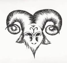 big horn classy aries tattoo design image make on paper u2013 truetattoos