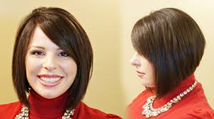 layered wedge haircut for women how to cut a stacked a line aline haircut tutorial youtube