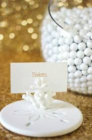 snowflake place card holder ornament set of 4 wedding place