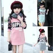 wholesale sweatshirt girls children clothes for winter girls long