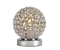 Small Crystal Bedroom Lamps Elegant Designs Lt1026 Chr Crystal Ball Table Lamp Amazon Com