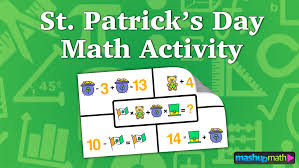 st patrick u0027s day math activity for kids u2014 mashup math