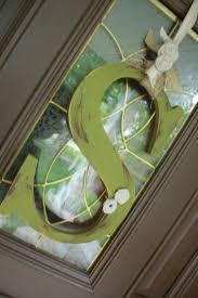 Door Monogram Decoration 151 Best Door Decor Images On Pinterest Wooden Doors Craft