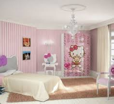 Hello Kitty Hanging Decorations Hello Kitty Themed Bedroom Ideas With Painting Pink Stripes On