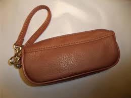rolfs genuine leather ziptop eyeglass case ebay