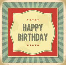 vintage happy birthday card vector free download