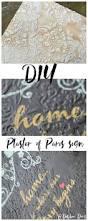 plaster of paris diy sign and a video debbiedoos
