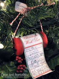 wish list tree ornament clean and scentsible