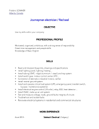 Electrician Apprentice Resume Examples Electrician Resume Format Maintenance Electrician Resume