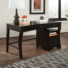 Contemporary Writing Desk Shop Scott Living Contemporary Smokey Black Writing Desk At Lowes Com