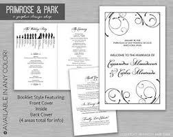 Catholic Wedding Program Cover Funny Wedding Program Printable Silhouette Wedding Program