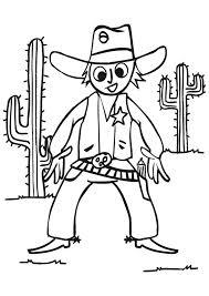 cowboy coloring pages throwing lasso coloringstar