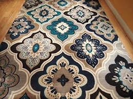 Brown And Blue Area Rug by Blue Area Rugs 5 7 Roselawnlutheran