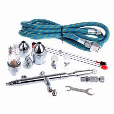 new 0 3 0 5 0 8mm dual action airbrush kit with airbrush hose body