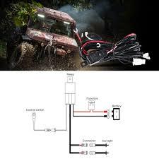 Led Light Bar Wiring Harness by Amazon Com Auxbeam Wiring Harness For Led Light Bar 12v 40amp