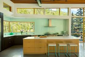 back painted glass backsplash kitchen contemporary with back