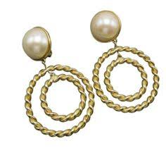 clip on earrings accessorize marni gold and wood clip on earrings 7 215 ars liked on
