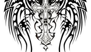 black ink holy tribal sitting fairy tattoo design u2013 truetattoos