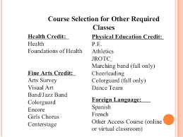 online health class for high school credit whs planning for high school 2014