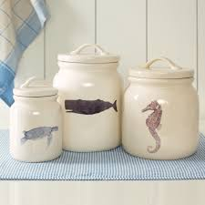 kitchen canister sets ceramic accessories for kitchen decorating using decorative nautical
