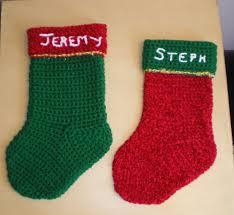 free beginner crochet christmas stocking patterns choice image