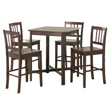 solid wood pub table walker edison 5 piece solid wood pub table set dark wood unique of