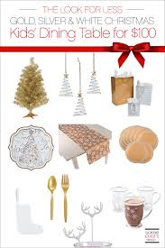 Christmas Decorations For The Dining Table by The Look For Less Decorate A Christmas Dining Table For Kids For