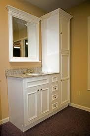square white wooden wall mounted hiden box mirror modern white