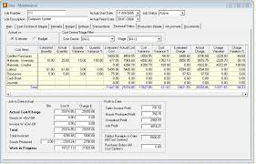jiwa erp accounting software advanced job and project costing